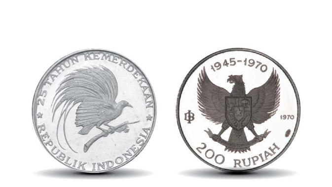 Rupiah Khusus Seri 25 Tahun Kemerdekaan Republik Indonesia. (Dok. BI)
