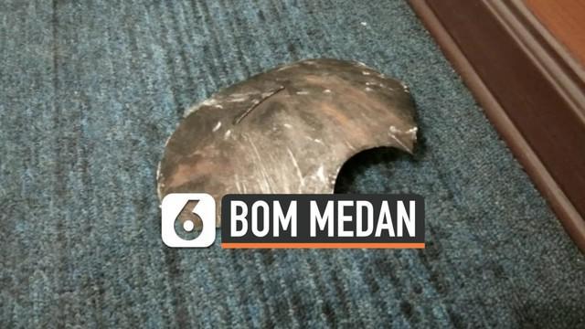 Bom bunuh diri yang meledak di Mapolresta Medan bukan hanya merusak TKP saja, serpihan bom juga menembus yang ada 300 meter dari lokasi pemboman.
