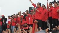 Jokowi hadiri kampanye PDIP di Malang, Jatim (Herman Zakharia/Liputan6.com)