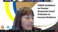 """3rd ASEAN High-Level Conference on Social Protection"""" melalui zoom meeting, Senin (14/12/2020)."""