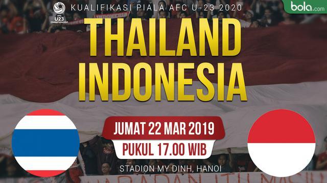 Kualifikasi Piala AFC U-23 2020 - Thailand Vs Indonesia (Bola.com/Adreanus Titus)