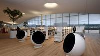 Interior Perpustakaan Oodi yang modern sebagai hadiah 100 kemerdekaan Finlandia (AFP)