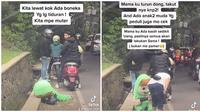Kisah Pilu Badut Jalanan. (Sumber: TikTok/ @hanalie_2020)