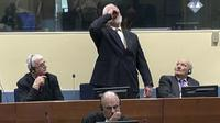 Nekat, Penjahat Perang Bosnia, Slobodan Praljak Tenggak 'Racun' Saat di Pengadilan (ICYT/Washington Eximiner)