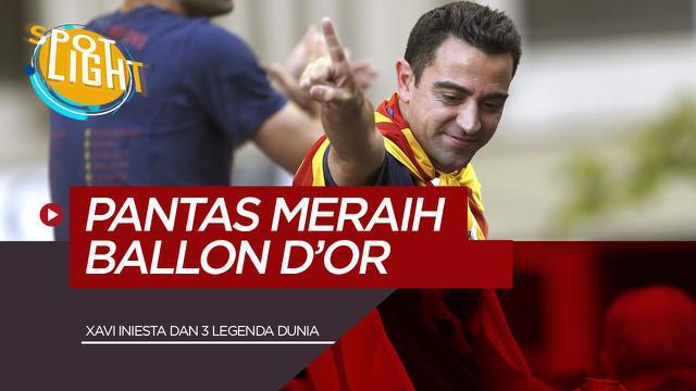 Berita Video Xavi Hernandez dan 4 Gelandang Pensiunan, yang Pantas Meraih Gelar Ballon d'Or