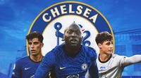 Chelsea - Kai Havertz, Romelu Lukaku, Kepa Arrizabalaga (Bola.com/Adreanus Titus)