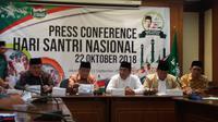 Konfrensi pers PBNU soal Peringatan Hari Santri Nasional (Liputan6.com/Hanz Jimenez)