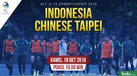 AFC U-19 Indonesia U-19 Vs Chinese Taipei U-19_3 (Bola.com/ Foto: Helmi Fithriansyah/ Grafis: Adreanus Titus)