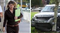 Seorang direktur perusahaan ditangkap kepolisian setelah bersembunyi di dalam lemari tidak lama setelah ia menghancurkan Range Rover.