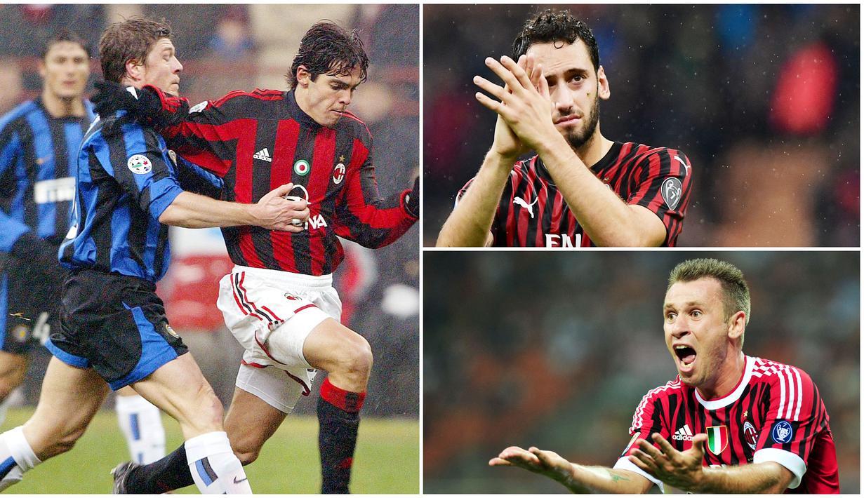 Hakan Calhanoglu akhirnya memilih hengkang dari AC Milan usai negosiasi perpanjangan kontrak tak menemui kata sepakat. Menariknya, ia menerima tawaran klub rival sekota, yakni Inter Milan. Berikut barisan pemain AC Milan yang membelot ke Inter Milan.