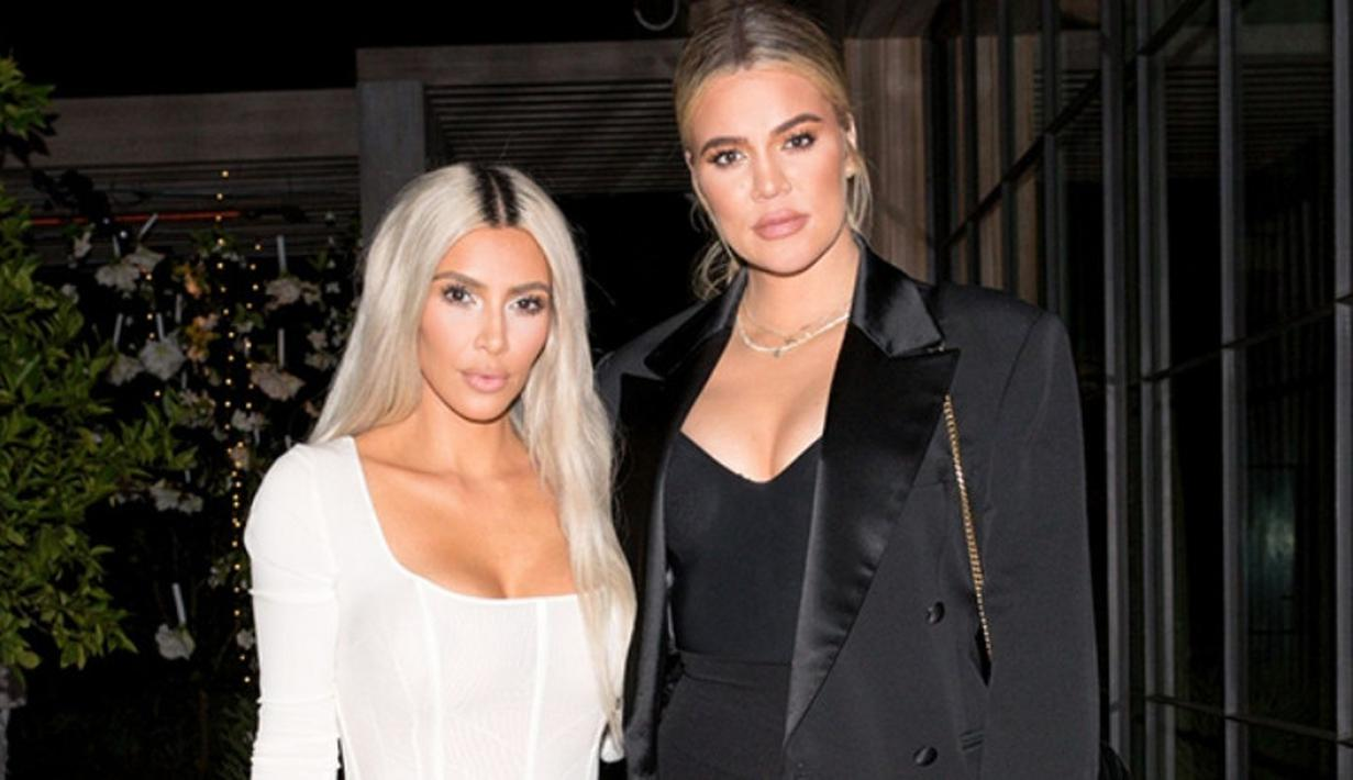 Khloe Kardashian dan Kim Kardashian miliki pengalaman bahagia yang sama tahun ini, yakni miliki anak. (REX/Shutterstock/HollywoodLife)