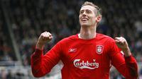 Peter Crouch ketika masih membela Liverpool. (AFP/Paul Ellis)