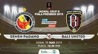 Piala Presiden: Semen Padang vs Bali United. (Bola.com/Dody Iryawan)