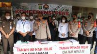 Polisi membongkar praktik mafia tanah yang bermain di Alam Sutera, Tangerang. (Liputan6.com/Ady Anugrahadi)