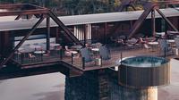 Hotel Shalati yang dibangun di atas jembatan kereta api di Afrika Selatan (dok.Instagram/@kruger_shalati/https://www.instagram.com/p/CAHwVtBJqZm/Komarudin)