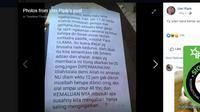 Cek Fakta - gempa di Iran dan suara dajjal (Facebook)