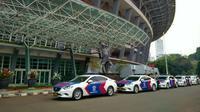 Polisi mulai memeriksa kondisi Stadion GBK menjelang Final Piala Presiden, 18 Oktober 2015, di Senayan, Jakarta, (15/10/2015). (Bola.com/Nicklas Hanoatubun)