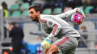Penjaga gawang AC Milan asal Italia, Gianluigi Donnarumma. (AFP/Vincenzo Pinto)