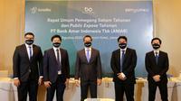 Presiden Direktur Amar Bank Vishal Tulsian bersama jajaran direksi PT Bank Amar Indonesia Tbk. (Dok Amar Bank)