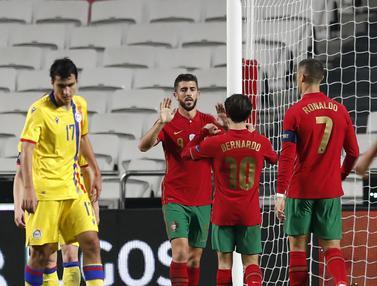 FOTO: Cristiano Ronaldo Dicadangkan, Portugal Hancurkan Andorra 7-0