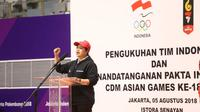 Menteri Koordinator Bidang Pembangunan Manusia dan Kebudayaan (Menko PMK) Puan Maharani, meminta para atlet untuk bertanding sebaik mungkin, berjuang sekuat tenaga dan pantang menyerah.