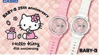 Casio luncurkan jam tangan hasil kolaborasi BABY-G dan Hello Kitty. (foto: Casio Singapore)