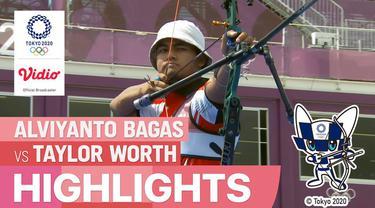 Berita video highlights 32 besar individu putra Olimpiade Tokyo 2020, Alviyanto Bagas (INA) Vs Taylor Worth (AUS), Kamis (29/7/21)