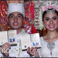 Pasangan yang menikah Minggu 2 Agustus kemarin mengaku sangat tegang ketika melalui prosesi akad nikah.