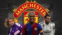 Gabriel Batistuta, Ronaldinho dan Gareth Bale. (Bola.com/Dody Iryawan)