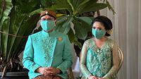 Danny Rukmana dan Raiyah Chitra Caesaria menggelar mitoni. (Instagram/ princessraiyah)