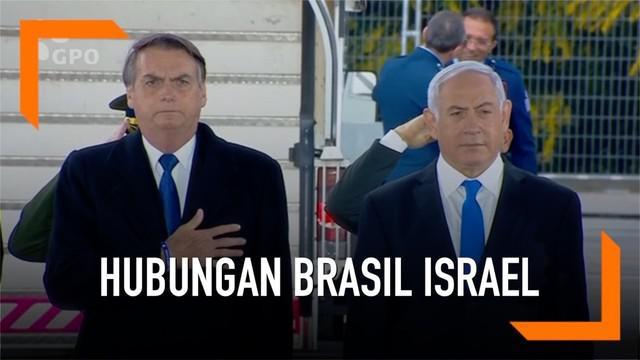 Presiden Brasil Jair Bolsonaro mengunjungi Israel. Brasil bahkan membuka kantor diplomatik di Yerusalem sebagai langkah mendekati Israel.
