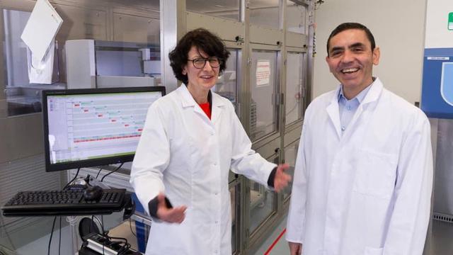 Dr Ugur Sahin dan istrinya, Dr Ozlem Tureci
