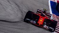 Pebalap Ferrari, Kimi Raikkonen, tak sepenuhnya puas dengan raihan podium ketiga pada F1 GP Rusia yang berlangsung di Sirkuit Sochi. (Twitter/@SduceriaFerrari)