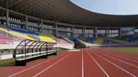 Wajah terkini Stadion Manahan Solo, saat dikunjungi oleh delegasi FIFA, Selasa (17/9/2019). (Bola.com/Vincentius Atmaja)
