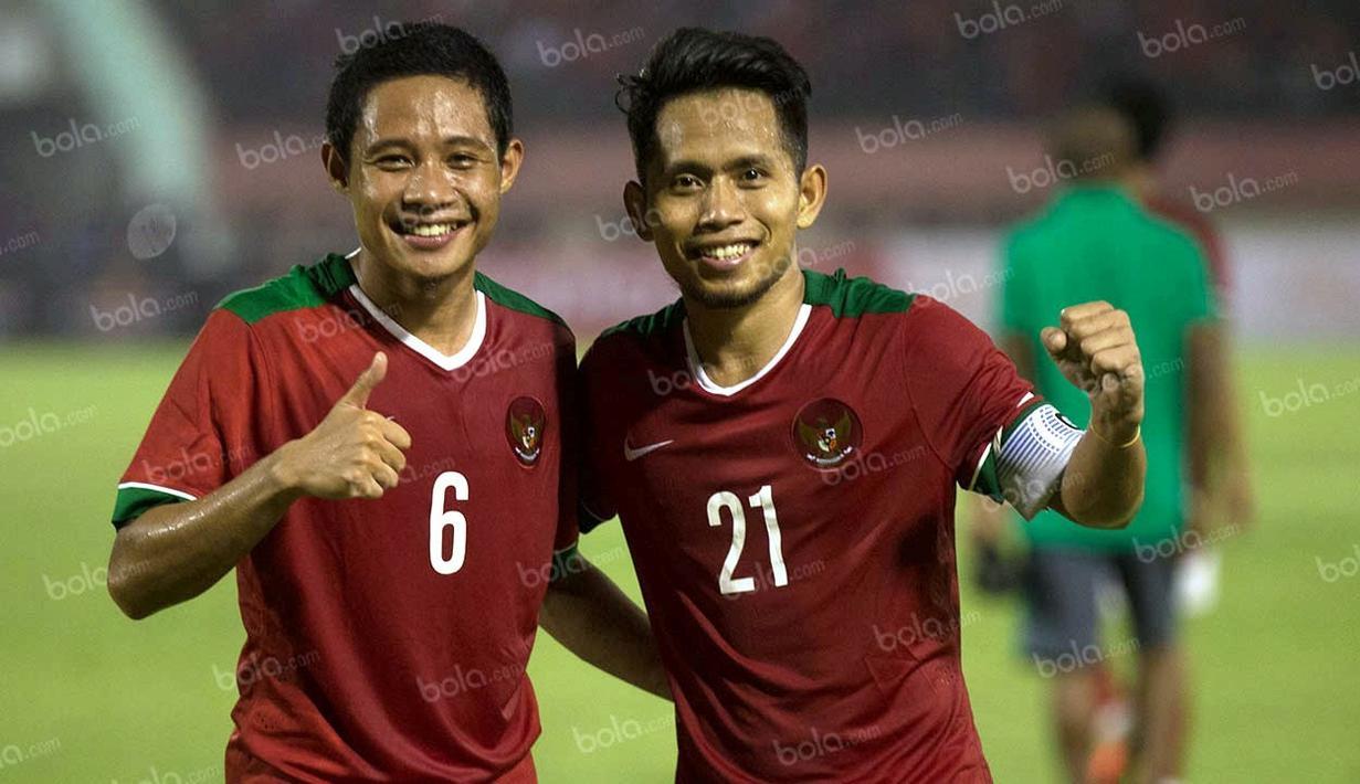 Berikut ini 5 pemain Timnas Indonesia yang dulunya merupakan jebolan PON, dari Evan Dimas hingga Andik Vermansyah. (Bola.com/Vitalis Yogi Trisna)