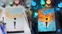 Lukisan Ini Tampak Bersinar dalam Keadaan Gelap. (Sumber: Instagram.com/criscoart)