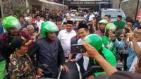 Djarot Saiful Hidayat konvoi bersama pengemudi ojek (foto: timses Ahok - Djarot)