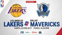 Jadwal NBA, Los Angeles Lakers Vs Dallas Mavericks. (Bola.com/Dody Iryawan)