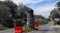 Tugu Jati Bedug, tugu perbatasan Wonogiri, Sukoharjo dan DIY. (Instagram/@bejodoyomangan/Solopos.com)