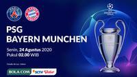 Liga Champions 2019-2020: PSG vs Bayern Munchen. (Bola.com/Dody Iryawan)
