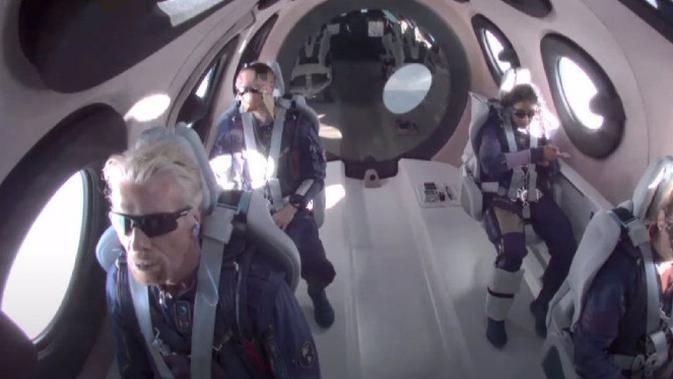 Richard Branson Mengudara ke Luar Angkasa dalam Penerbangan Virgin Galactic. Dok: Virgin Galactic