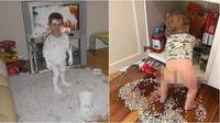 Kelakuan anak bikin berantakan rumah (Sumber: Twitter/GospelJosiah)