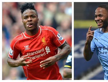 Foto: 5 Penyerang Top yang Pernah Memperkuat Liverpool dan Manchester City di Liga Inggris, Raheem Sterling yang Tersisa