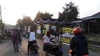 Jenazah korban, Jannatun Cintya Dewi (24) tiba di rumah duka tepat  pada pukul 07.30 WIB (Liputan6.com/Dian Kurniawan)