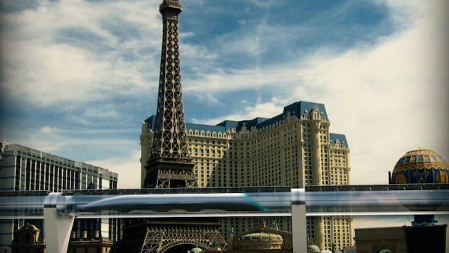 Konsep sistem Hyperloop yang diajukan oleh Hyperloop Transportation Technologies. (Sumber HTT)