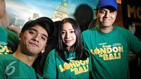 Ricky Harun, Nikita Willy dan Kevin Julio saat mempromosikan film terbaru mereka, From London to Bali. (Zulfa Ayu Sundari/Liputan6.com)