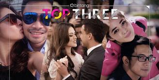 Bintang top three edisi hari ini ada berita tentang bulan madu Raisa dan Hamish Daud yang mengundang misteri, hamil empat bulan Nabila Syakieb, dan keinginan David NOAH bercerai dalam satu hari.