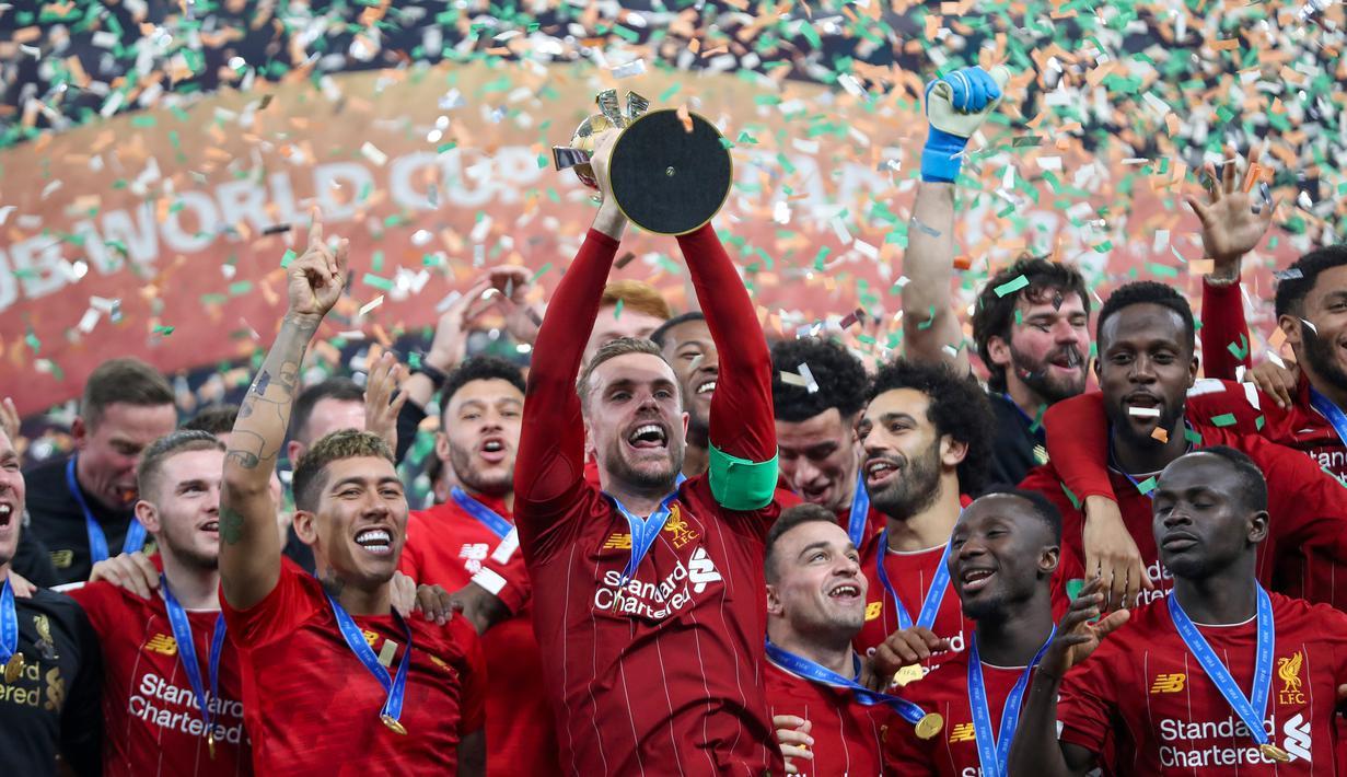 FOTO Liverpool Raih Gelar Juara Piala Dunia Antarklub 2019