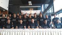 Perwakilan pemain dari 18 klub Liga 1 2018 melakukan konferensi pers di Hotel Century, Selasa (24/9/2018).