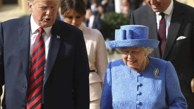 begini penampilan melania trump pertama kali bertemu ratu elizabeth